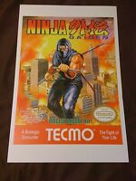Ninja Gaiden 11x17 Box Art Poster - Nintendo Nes No Game Action Ryu -