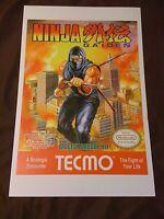 Ninja Gaiden 11x17 Box Art Poster - Nintendo Nes No Game Action Ryu -