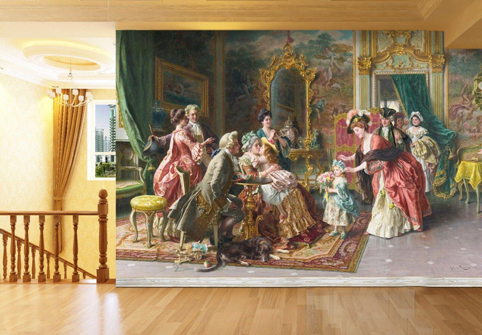 3D Kind Familie Malerei 9393 Tapete Wandgemälde Tapeten Bild Familie DE Lemon