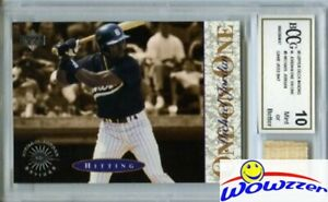 1995 UD Minors One on One #3 Michael Jordan w/Game Used Bat BECKETT 10 MT GGUM