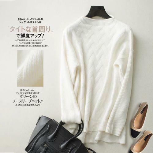 Women Cashmere Half High-Necked Winter Warm Loose Sweater Tops Sweater Gray