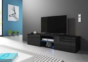 Black Modern Tv Stand Best 140 Tv Cabinet Lowboard Tv Unit Cupboard