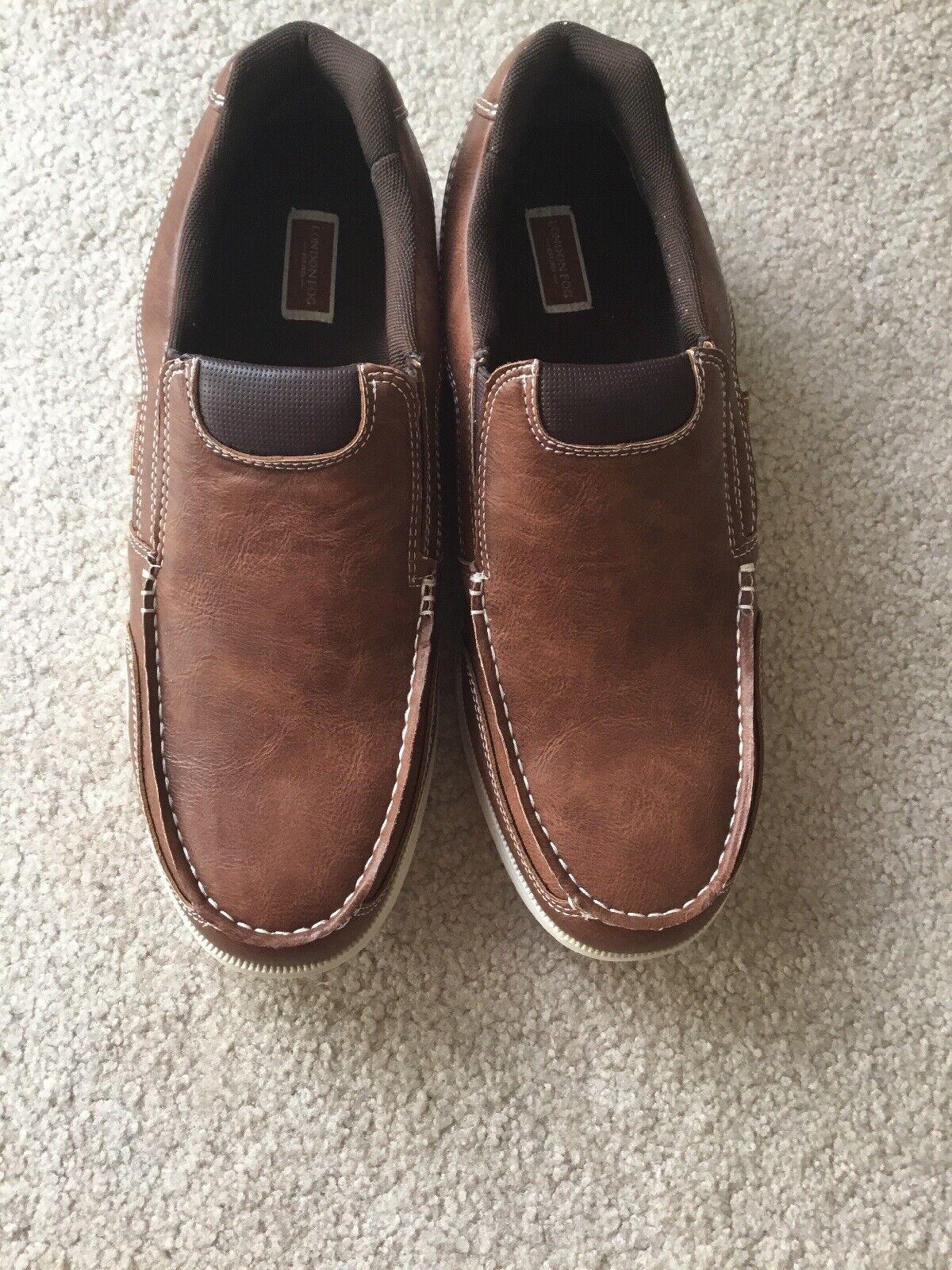 Mens LONDON FOG LFM HASTING Cognac PG 553 shoes Size 13 M