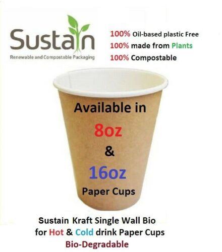 traiteur /& 16 oz restauration environ 453.58 g environ 226.79 g parties Jetable Papier Café//Thé Tasses 8 oz etc....
