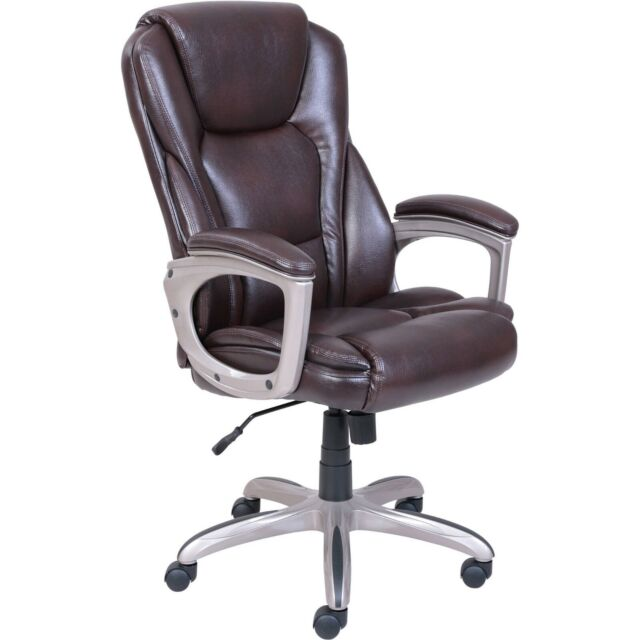Lane Big Tall Bonded Leather Executive Chair Chocolate Brown For Sale Online Ebay