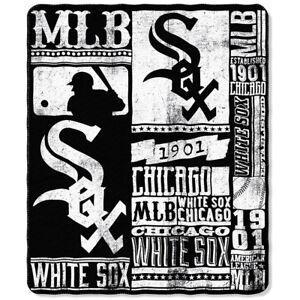 "New MLB Chicago White Sox Large Soft Fleece Throw Blanket 50"" X 60"""
