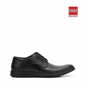 Hush Puppies VITRUS PT OXFORD Black Mens Lace-up Dress/Formal Leather Shoes