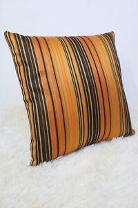 Retro-Cushion-Cover-16x16-034-Amazing-Original-60s-70s-Fabric-Vintage-Gold-Stripey