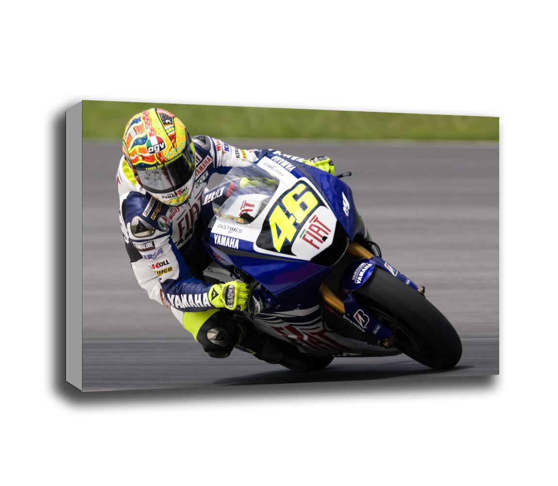 Valentino Rossi 46 Yamaha Moto Racing Canvas Art Print Various Größes