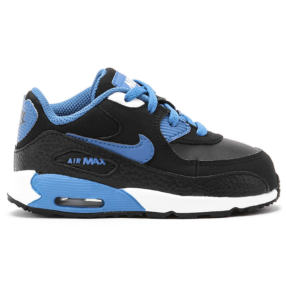 Nike Air Max 90 Toddlers 408110 089 Black Military Blue White Shoes Baby Size 5