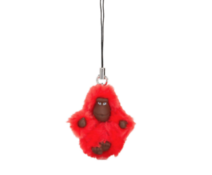 Kipling Baby XS Monkey Keyring//Mobile Charm LAURINE ACTIVE RED