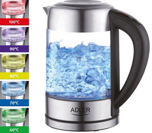 vetro acciaio inox BPA libero Illuminazione a LED Bollitore con Scelta Temperatura 2.200 W