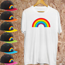 Urbanist Graffiti Help NHS Stay Home Stay Safe 3 colour rainbow adult t-shirt