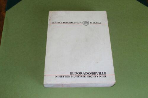 1989 Cadillac Eldorado Seville Factory Service Information Manual.