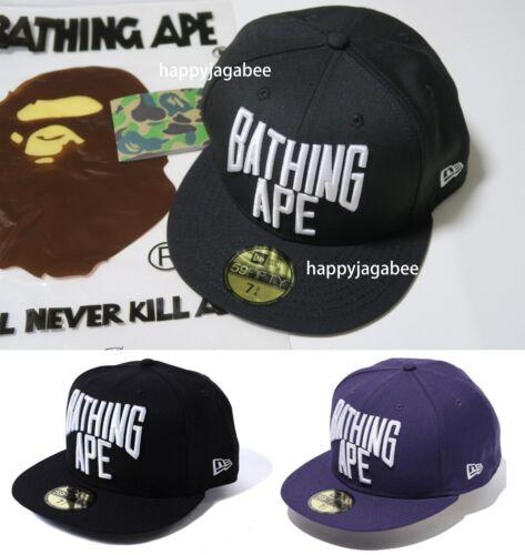 A BATHING APE Goods Men/'s 59 FIFTY NYC LOGO NEW ERA CAP 2colors Black//Purple New