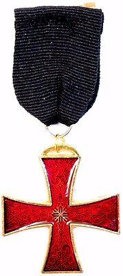 RCJ-1 Masonic Knights Templar Order of the Red Cross Jewel
