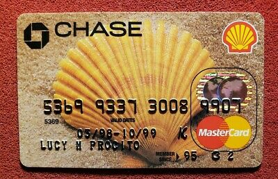 Chase Shell Oil Mastercard Credit Card Exp 1999 Free Shipping Cc715 Ebay