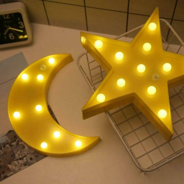 3D LED Magical Star Moon Night Light Wall Table Desk Lamp ...