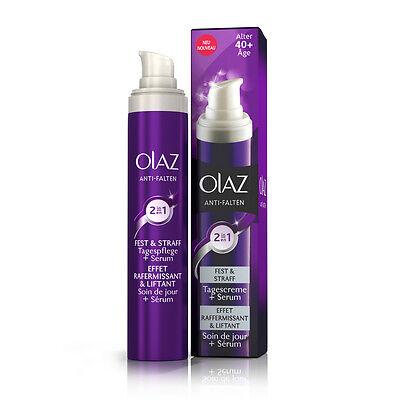 OLAZ Anti-Falten Gesichtscreme Tag + Serum 2 in 1 Ton und straffend 50 ml