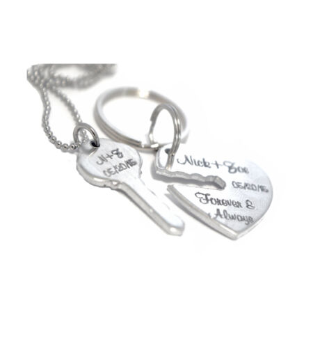 Wedding Couple Key Chain Gift Custom Custom Key to My Heart Keychain Set