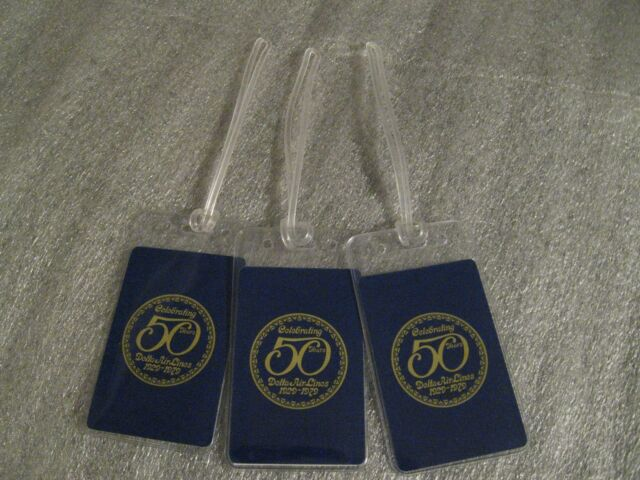 1979 Delta Luggage Tags - Delta Airlines Vintage Playing Card Bag Name Tag Set 3