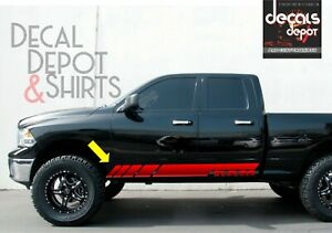 Dodge-Ram-1500-2500-3500-Vinyl-Decal-Side-Stripes-Kit-2009-2019-4x4-Hemi-Rebel