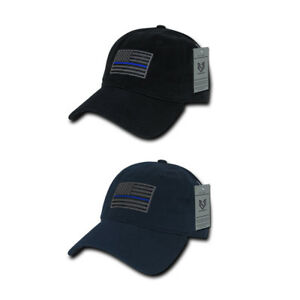 Rapid Dominance Police Thin Blue Line US Flag Baseball Dad Caps Hats ... 9d635242345d