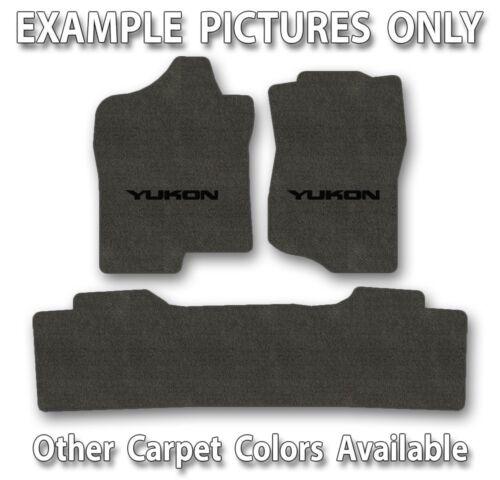 3pc Lloyd Velourtex Carpet Mat Set GMC Yukon or Denali Choose Color and Logo
