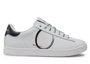 Chaussures Hommes Trussardi Jeans 77A00273 Basket Casual Sport Basses Cuir Blanc