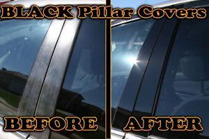 BLACK Pillar Posts for Chrysler 300 11-15 6pc Set Cover Door Trim Window Piano
