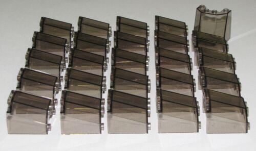 LEGO LOT OF 25 NEW TRANS-BLACK 3 X 4 X 3 WINDSCREEN CAR TRUCK WINDOW PARTS
