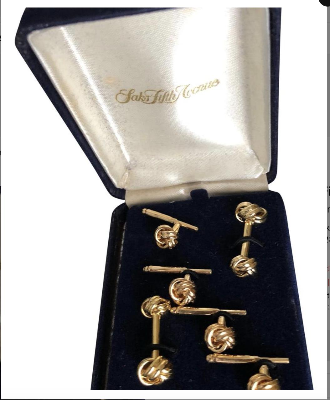 Saks Fifth Avenue Gold Men's Shirt accessories