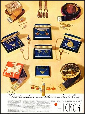 1940-49 Merchandise & Memorabilia Lovely 1940 Hickok Christmas Gifts Men's Accessories Vintage Photo Print Ad Adl18