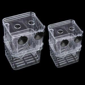 Aquarium-Fish-Tank-Guppy-Double-Breeding-Breeder-Rearing-Hatchery-Box-Trap-O1O0