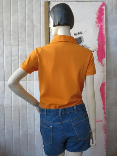 shirt Damen T Shirt Woman Vintage Orange True 70s Polo 70er Poloshirt ZZxEwrp