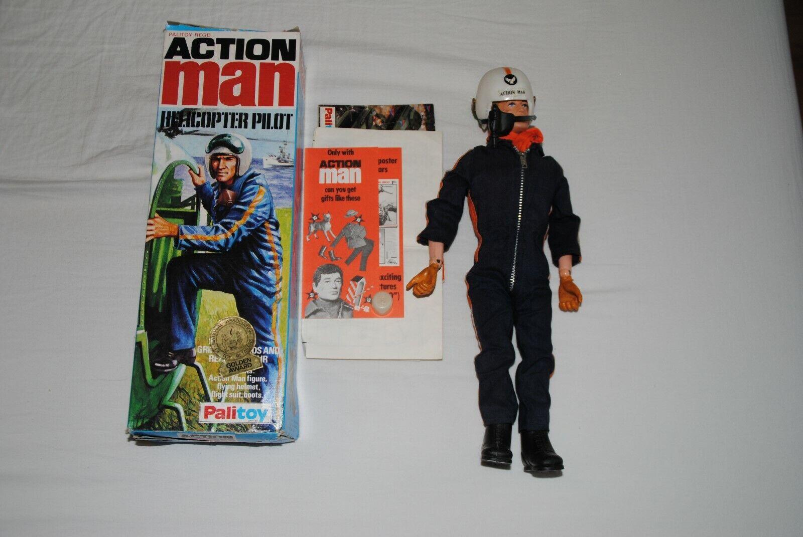 ACTION  homme palitoy GI JOE 1973    HELICOPTER PILOT     FIGURE  -BOXED  2  réductions et plus