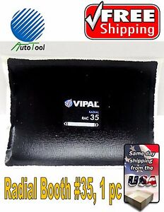 Dual-Cure-Square-Booth-Radial-Tire-Repair-Patch-6-034-x-8-034-Bag-of-1