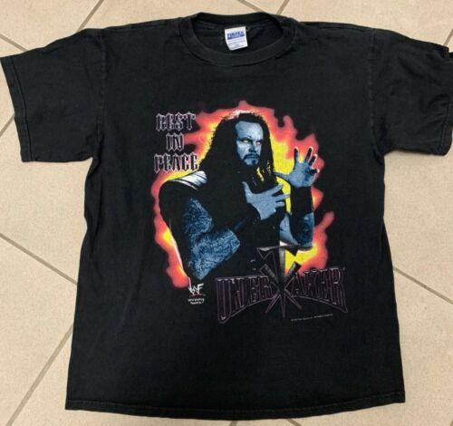 Vintage 1998 WWF Undertaker Tee Shirt Size LARGE L