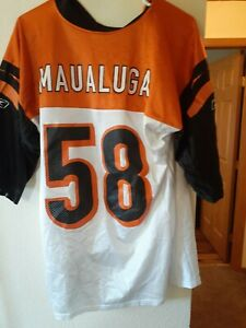 Details about Reebok NFL Jersey Rey Maualuga Cincinnati Bengals Medium Black
