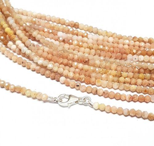 Pink Opal Kugelkette facettiert ca 45 cm mit Silberkarabiner,Top ca 3 mm
