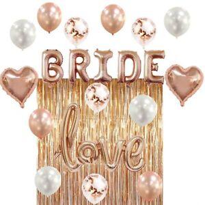 Bachelorette Party Bridal Wedding Shower Decorations Kit Rose Gold Theme 22pcs 663701993202 Ebay