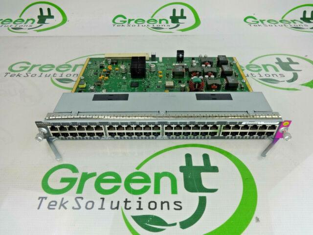 Cisco WS-X4748-UPOE+E 48-Port UPOE POE+ Gigabit 10/100/1000 Module