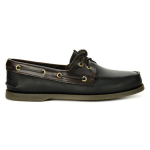 Sperry-Top-Sider-Men-039-s-Authentic-Original-Leather-Boat-Shoe-Black-0191486-NEW