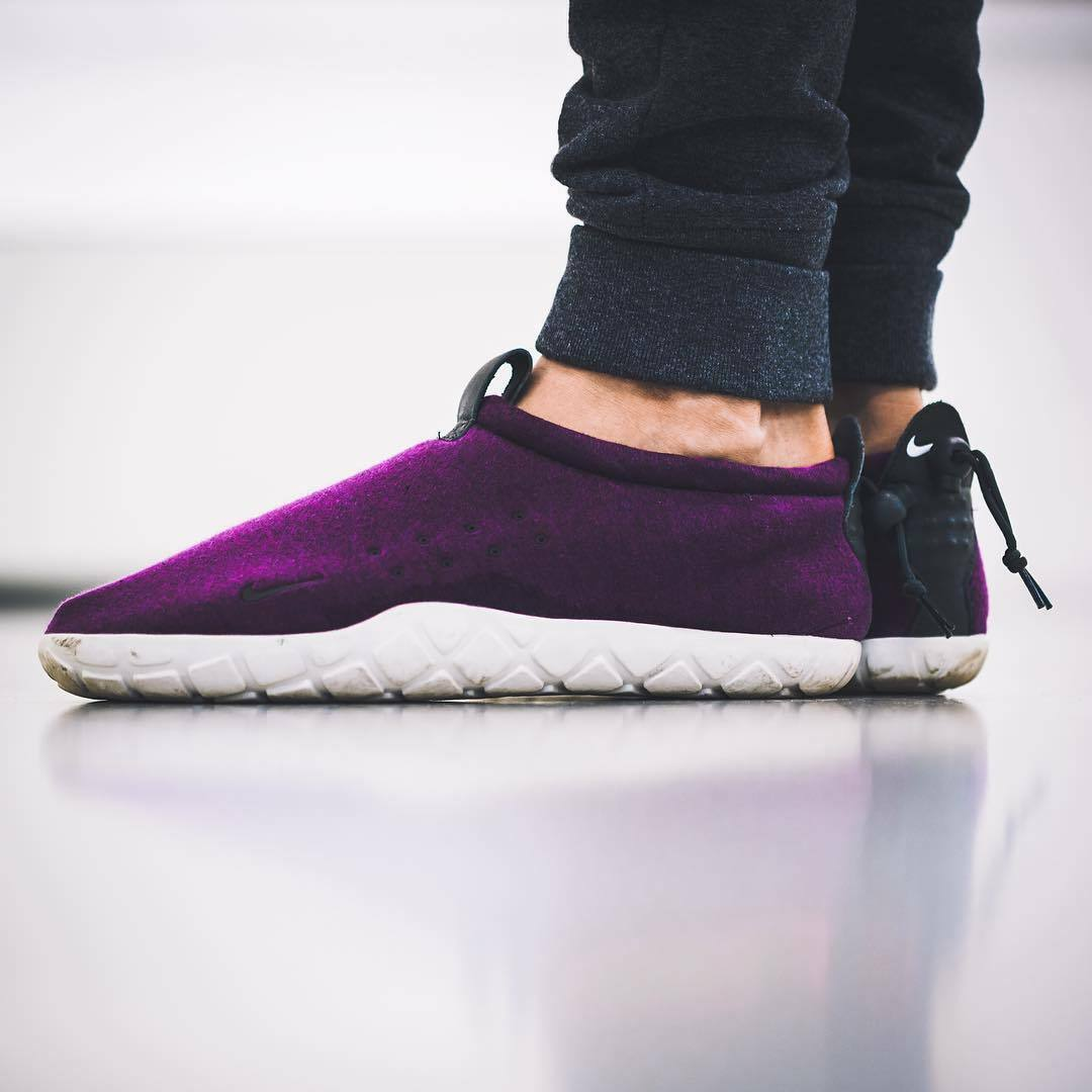 NikeLAB AIR MOC TECH FLEECE Slip On Trainers Shoes ACG - () Mulberry