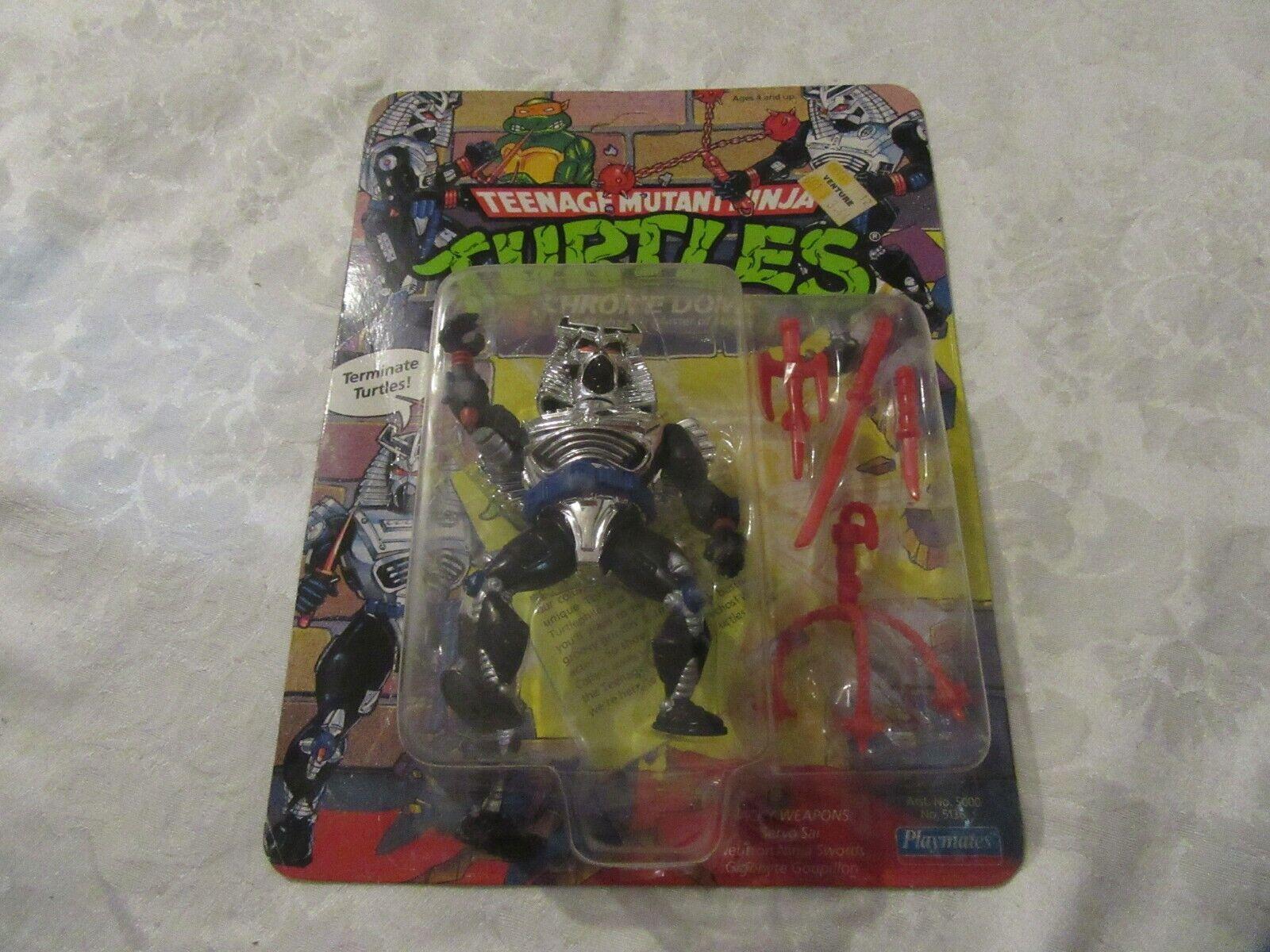 Jugarmates Tortugas Ninjas Adolescentes Mutantes TMNT 1991 Cromado cúpula ENLOMADOR