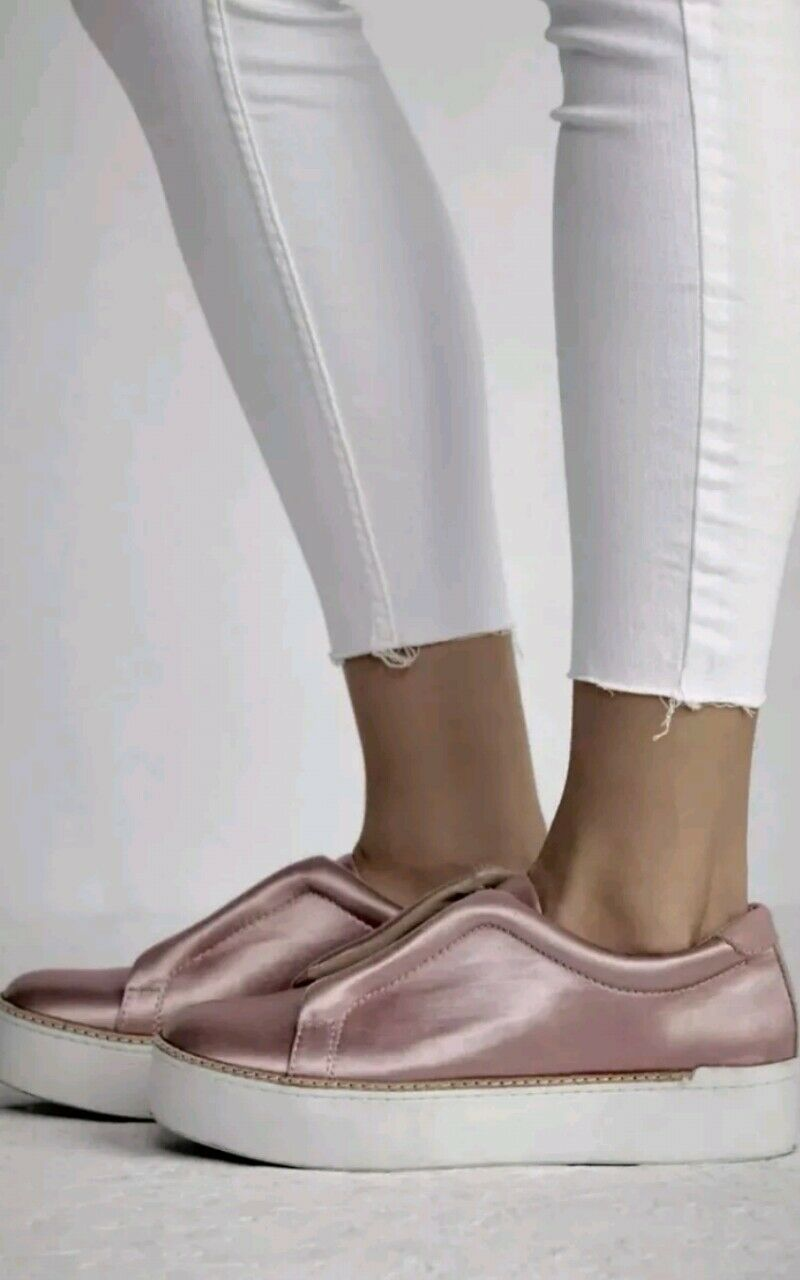 Free People Satin Slip On Sneaker Rose Größe 9.5 MSRP  150