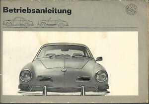 VW-KARMANN-GHIA-Betriebsanleitung-1973-CABRIOLET-Coupe-Bedienungsanleitung-BA