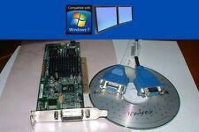 Matrox G550 32MB Dual VGA Display Small Form Factor Win7 XP PCI Video Card + Cbl