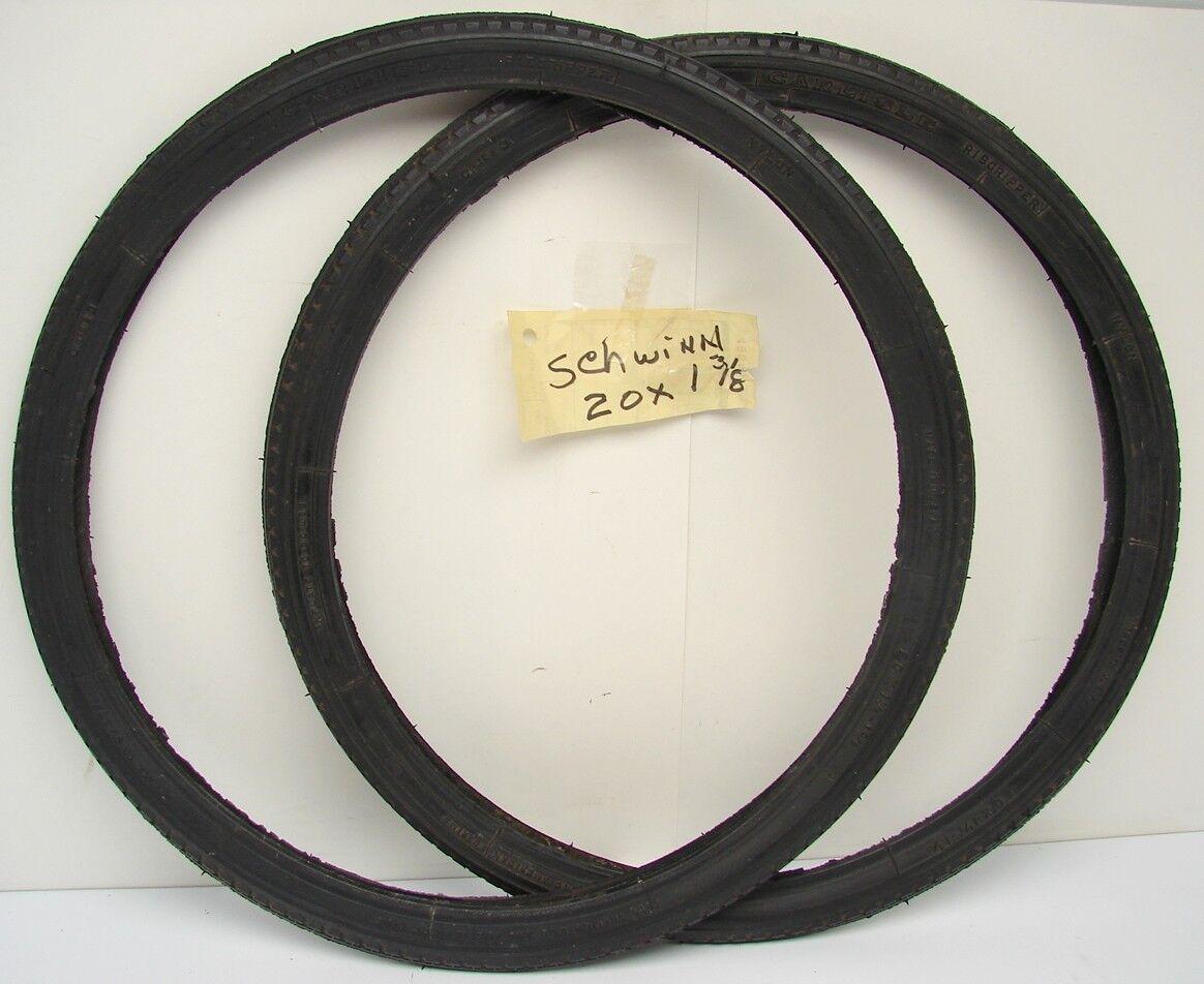Vintage NOS Carlisle Ribgripper 20 x 1 1 4 x 1 3 8 Bicycle Tire Wheel Set