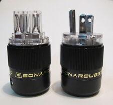 SONAR QUEST CRYO Audio Grade Rhodium plated IEC plug + US main plug sonarquest